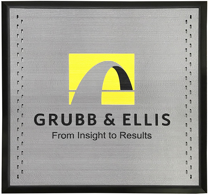Incredible commercial gray outdoor mat with real estate logo by Niche